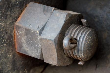 Close up of old diesel locomotive suspension.  Reklamní fotografie