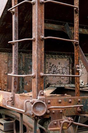 Abandoned coal freight train car.  Reklamní fotografie
