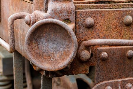 Close up of abandoned coal freight train car. Virginia Museum Of Transportation
