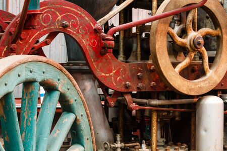 PUMPER: Old steam fire engine on display at train museum. Southeastern Railway Museum