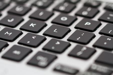 Laptop keyboard. Closeup. Reklamní fotografie