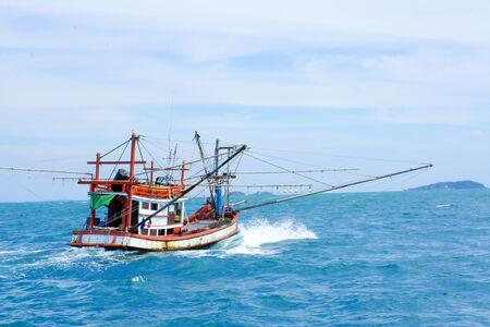 Fishing ship in Andaman sea Thailand photo