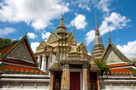 Temple in Bangkok Wat Pho, Thailand  Stock Photo