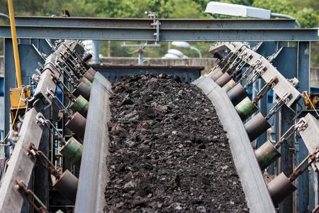 coal transportation line  for processing Foto de archivo