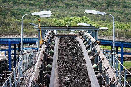coal transportation line  for processing photo