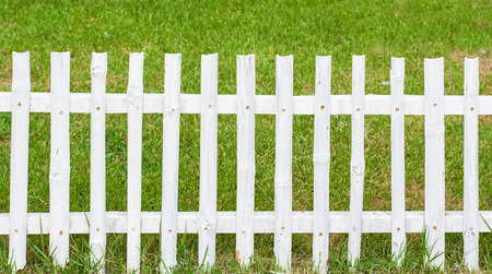 non    urban scene: Wooden fence and grass