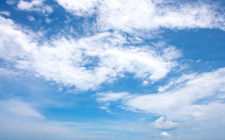 altocumulus: Altocumulus clouds with blue sky