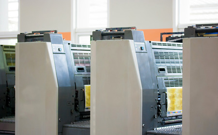 commerce and industry: Offset machine - Press printing