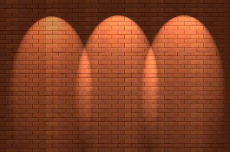 shined: Fragment of the shined brick wall Stock Photo