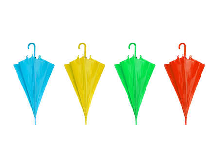 colorful umbrellas isolated on a white background photo