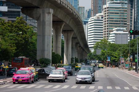 BANGKOK, THAILAND, JUNE 8,2013, Traffic in Bangkok, Thailand. It is the capital of Thailand. Redakční