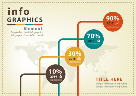 Abstract business infographics Vector Design Vector