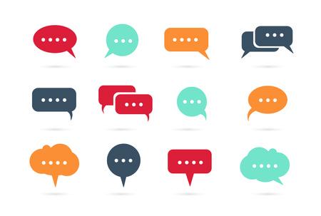 info text: Speech bubble icons vector Illustration