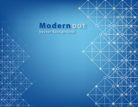 Dot Network kleurentechnologie vector abstract Stock Illustratie