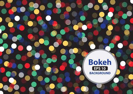 Multi color bokeh background photo