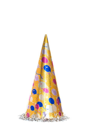 party hat: New year celebration Party items Stock Photo