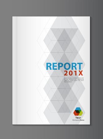 page couverture: Vecteur Conception de la couverture du rapport annuel Illustration