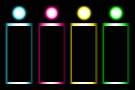 Vector glow banner design template. Vector
