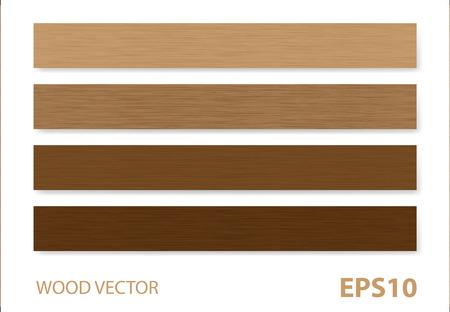 madera: Madera vectores de fondo. Vectores