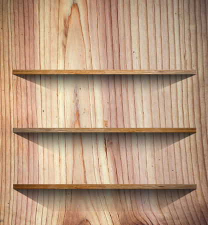 shelf: Wooden book Shelf background Stock Photo