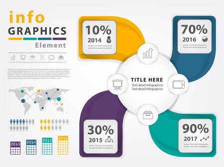 annual report: Modern Infographic vector template design for layout, workflow, diagram, number options, Annual report, banner, web design Illustration