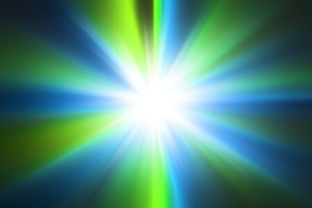 celeste: Abstract light blue and green radial zoom background Stock Photo
