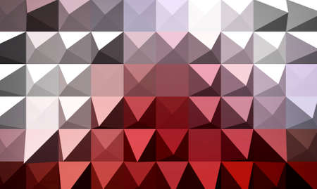 extrude: Red extrude geometric abstract background