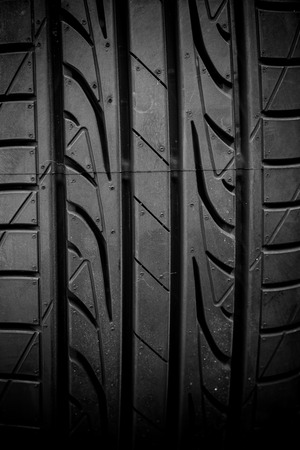 winter tires: Winter tires close-up on black background