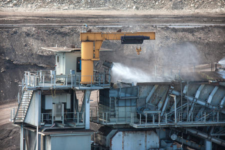 minimize: Water injection to minimize dust coal Industry