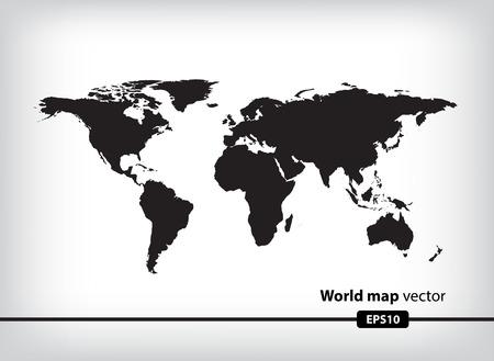 cartina del mondo: Mappa del mondo  Vettoriali