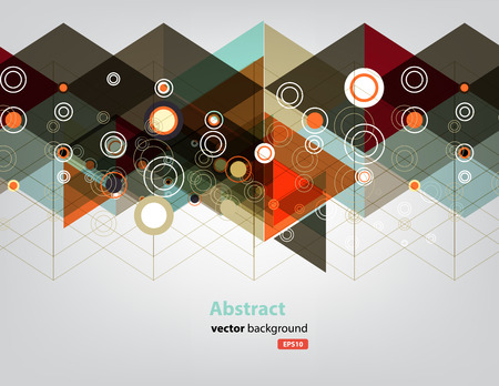 abstract background of triangle and circle technology concept