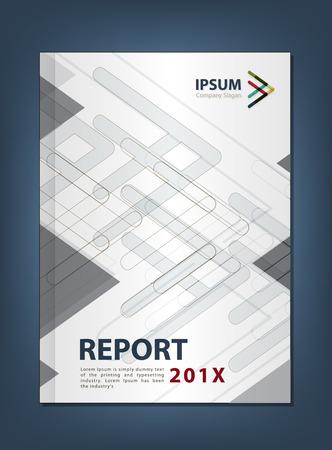 multiplicar: Diseño Anual Moderno informe Cubierta, Multiplicar Flecha concepto temático