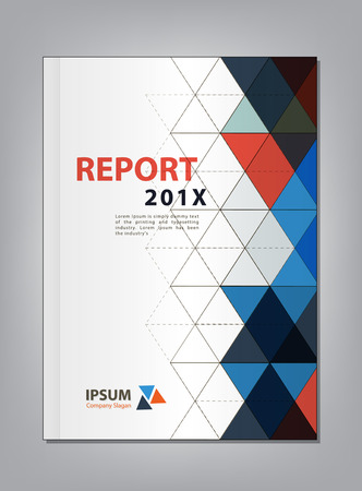 report cover: Modern Annual report Cover design, Multiply Triangle theme concept Illustration