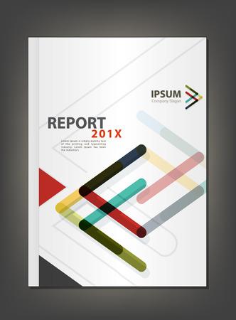 Modern Annual report Cover design, Multiply Arrow theme concept Vectores