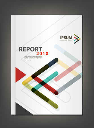 Modern Annual report Cover design, Multiply Arrow theme concept Illustration