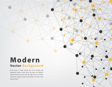 abstrakcyjne geometryczne tło trójkąt i okrąg koncepcji technologii Ilustracja
