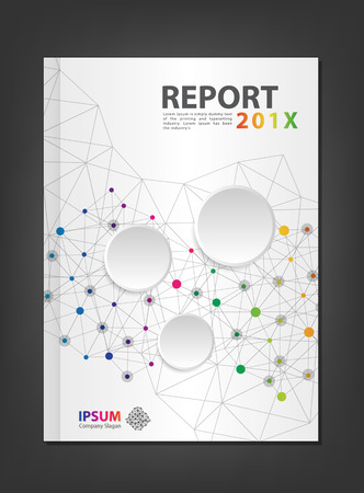 Modern Annual report Cover design geometric spectrum theme concept