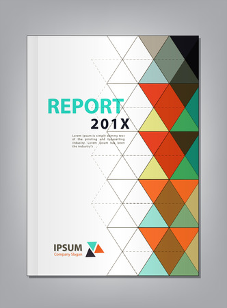 multiply: Modern Annual report Cover design, Multiply Triangle theme concept Illustration