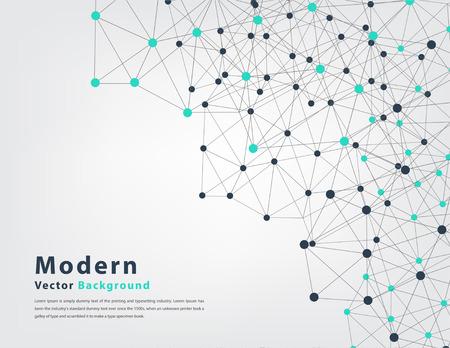 conexiones: fondo abstracto del vector geométrica del triángulo y la tecnología concepto círculo