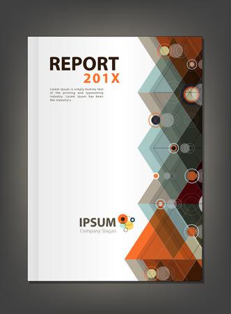 multiplicar: Diseño moderno informe anual de la cubierta, Multiplicar triángulo y el círculo concepto temático