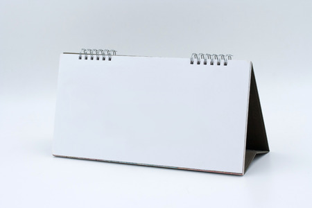 Desk Blank Calendar  on white background