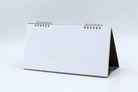 kalendarz: Biuro Pusty kalendarz na białym tle