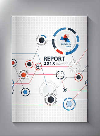 report cover design: Abstract technology Annual report Cover design vector Illustration
