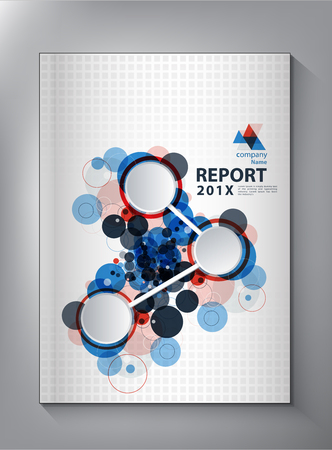 Abstract technology Annual report Cover design vector Vectores