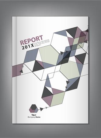 informe: Cubierta Informe anual de diseño vectorial abstracto y geométrico