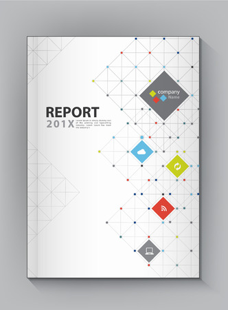 business book: Modern Annual report Cover design vector dot  technology theme concept