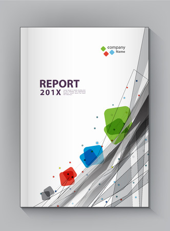 Modern Annual report Cover design vector dot  technology theme concept