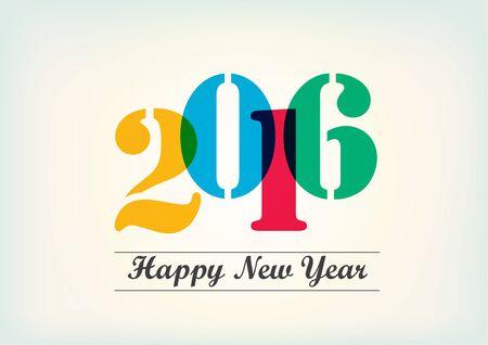 pending: Happy New Year 2016 vector text design