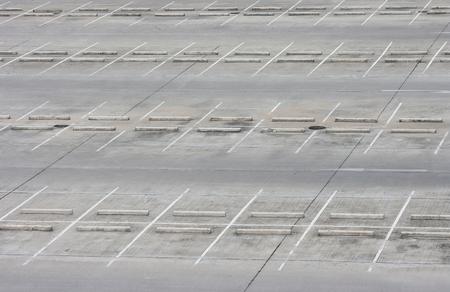 car lots: Empty outdoor car park - empty parking lots Stock Photo