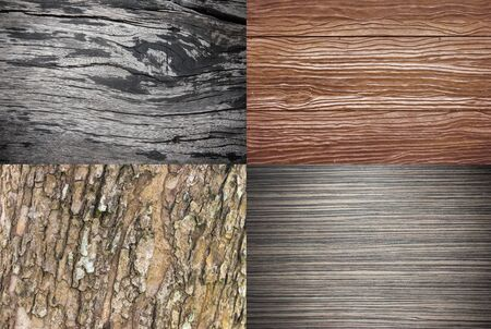 wenge: wood texture collection  or wood background set for your nature design and wood concept Stock Photo